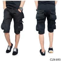 Celana Pendek Kargo Hitam Merk Kick Denim / Pdl / Gunung / Short Car