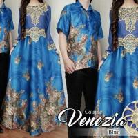 Couple Venesia Batik Sutra Gamis Baju Pasangan Kondangan Resmi A106
