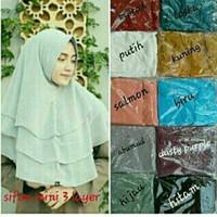 Jilbab / Hijab / Kerudung Sifon Mini (Khimar) 3 Layer (Fj-011)