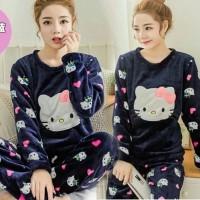 Baju Tidur Wanita Hello Kitty Set Hk / Piyama Hello Kitty