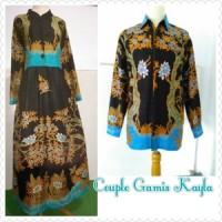 Sarimbit Gamis Batik + Kemeja  Lengan Panjang / Gamis Batik Halus