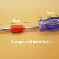 Obeng Cebol Transparan Bolak Balik (Plus & Minus) With Magnet