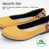 harga Yellow Tan | Sepatu Etnik Wanita | Motif | Batik | Flat Shoes | Teplek Tokopedia.com