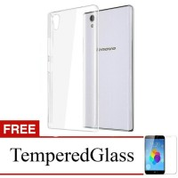Case for Lenovo S60-Clear + gratis tempered glass -ultra thin soft cas