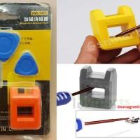 2pcs Magnetizer + Opening Tool (Alat Membuat Besi Menjadi Magnet)