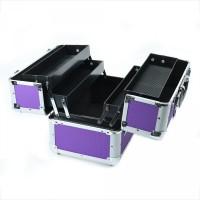 kotak kosmetik artis / koper tempat kosmetik / box kosmetik artis ungu