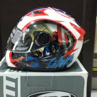 Helm MDS Provent White Red Avenger Marvel Captain Pro Vent Fullface