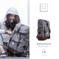 Tas Ransel Backpack Visval Metro Gendong Rucksack Punggung Laptop Ori
