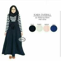 KARA OVERALL BLACK (OP0311)/dress lengan panjang murah cantik