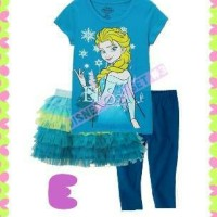 pakaian anak perempuan / dg3e baju rok tutu leging baby
