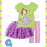 pakaian anak perempuan / dg3g baju rok tutu leging baby