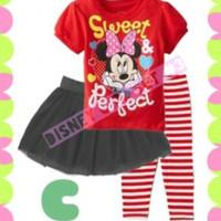 pakaian anak perempuan / dg3c baju leging rok baby