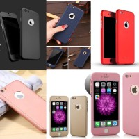 Iphone 5 / 5s / SE 360 Full Protection Hybrid Case + free tempered