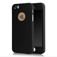 Iphone 5 / 5s / SE 360 Full Protection Hybrid Case + tempered glass