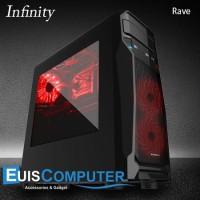 CASING PC INFINITY RAVE GAMING CASE - (Mainboard Besar Masuk)