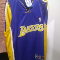 Setelan Jersey Baju Basket NBA Anak Impor - Lakers Ungu