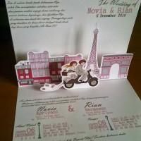 Undangan Pernikahan Pop Up Hardcover