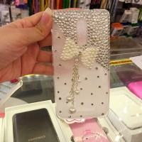 ribbon pita pearl diamond mutiara case hp unik custom nama samsung htc