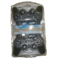 Stik Joystick Gamepad Double Hitam PC Analog Gaming getar
