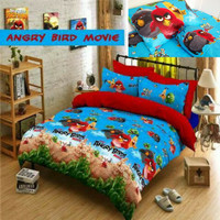 Bed cover set katun lokal halus Angry bird movie size 160x200/180x200