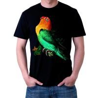 Bawara Kaos Kicau Lovebird D Parblue Premium Size XXL