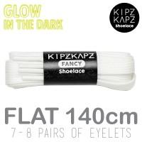 KipzKapz Shoelace - Tali Sepatu Flat Glow In The Dark 8mm White 140cm