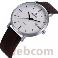 Jam Tangan Pria SKONE 9307 Leather Strap Casual Men Watch WR 10M