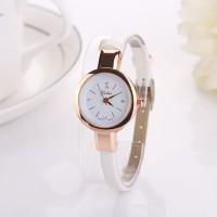 1210 Jam Tangan Wanita Elegant Ultra Thin Analog Quartz Putih