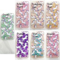 casing / case hp blink samsung S6 / EDGE Waterglitter Unicorn