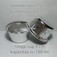 Aluminium Foil Bulat 100 ml / Cetakan Makaroni Panggang Schotel dll