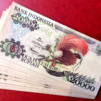 uang kuno 20000 cendrawasih tahun 1992