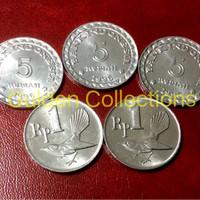 paket uang kuno mahar pernikahan 17 rupiah koin tahun 2017 5 5 5 1 1
