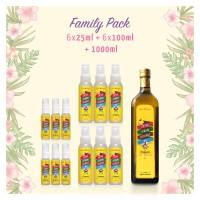 FAMILY PACK - COCO MILAGRO EVCO (1 LITER + 6 X 100 ML + 6 X 25 ML)