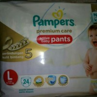 Jual Pampers Premium Care Active Baby Pants L Murah