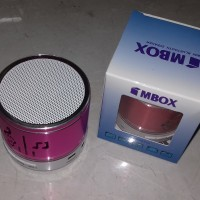 speker bluetouth mini mbox led / musik box mini pink