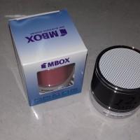 speker bluetouth mini mbox led / musik box mini black