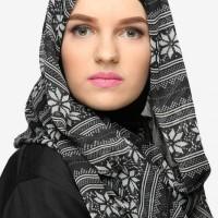 Jual Pasmina Sifon, Pashmina Chiffon, Jilbab Black and White, Ola Monochrom Murah