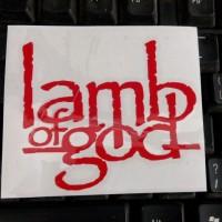 cutting sticker band lamb of god