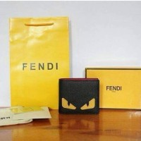 JUAL DOMPET FENDI MOSNTER 2COLOUR BLACK AND YELLOW MIRROR QUALITY