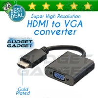 Converter HDMI to VGA Adapter Super Resolution Gold Plated