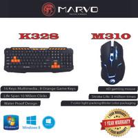 Combo Keyboard Mouse Marvo K328 + M310 Gaming Garansi Resmi
