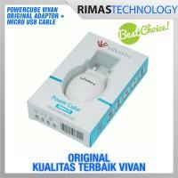 Powercube Vivan Original Adaptor + Kabel Micro USB