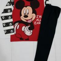 Piyama Anak Cowok 1-6 Thn Mickey Merah