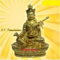Rupang Patung Arca Padmasambhava Logam Warna Emas 8.5 inch