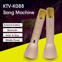 Mic Karaoke bluetooth Smule Bigo Mp3 You Tube Video Meeting K088