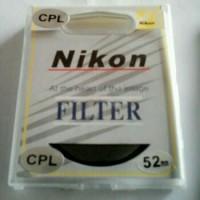 Nikon CPL 52 Mm ORIGINAL Filter Lensa Protector Standard Lens 18-55