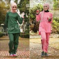 Stelan Olahraga Wanita/Baju Senam Muslim/Baju Erobik/qirani qdf 06