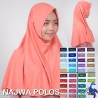Jilbab Instan Najwa Najwa Polos Murah