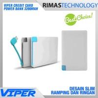 Credit Card Power Bank 3200mAh Powerbank Kartu Kredit ATM 3200 mAh HP