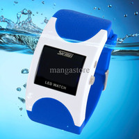 SKMEI Silicon Wristband LED Watch Water Resistant 50m / Jam LED Gelang